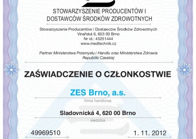 01.11.2012 -  Integral Certyfikat